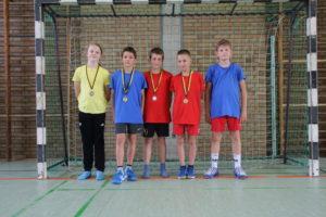 Nahmen an der Talentiade Endrunde teil: Ida, Maxime, Simon, Tim und Aaron